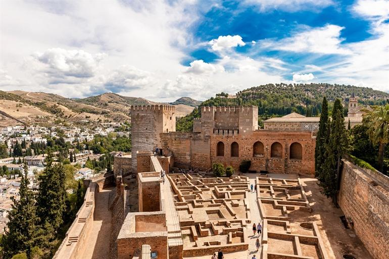 Alcazaba, the oldest part of Alhambra