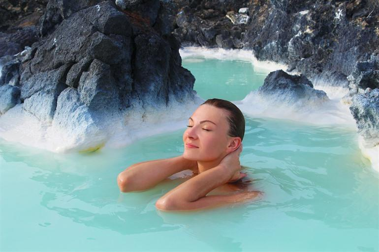 Blue Lagoon bright blue and healing water