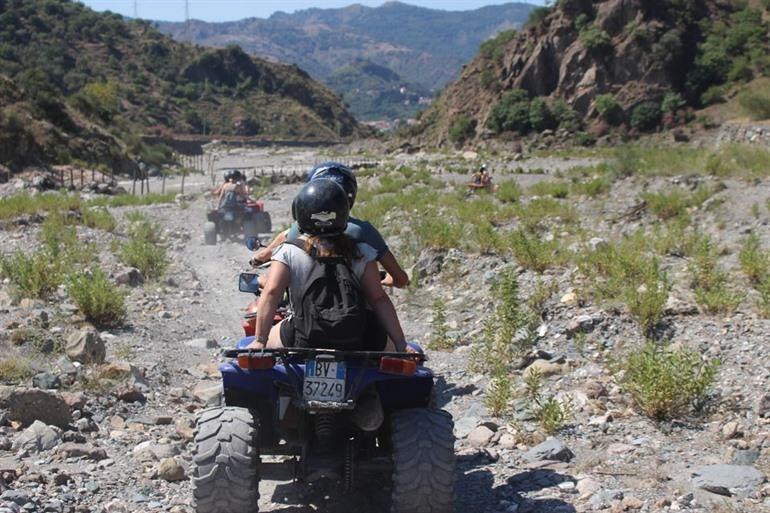 Riding a quad on Mount Etna